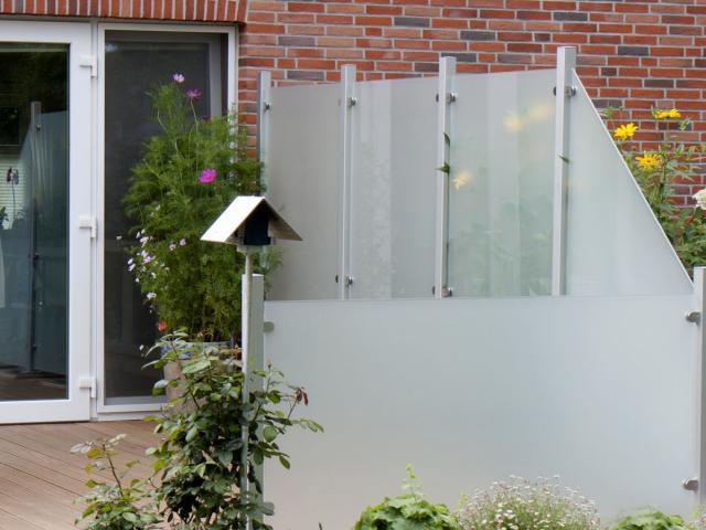 Glas-Sichtschutz